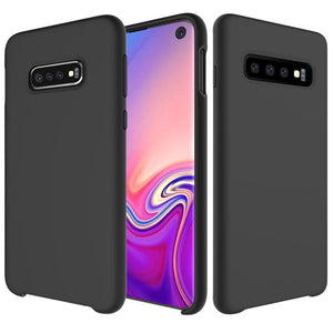 AMZER Silicone Soft Skin Jelly Case for Samsung Galaxy S10 - Black - amzer