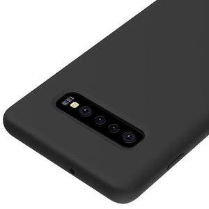 AMZER Silicone Soft Skin Jelly Case for Samsung Galaxy S10 Plus - Black - amzer