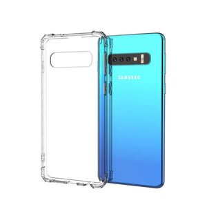 AMZER Pudding TPU X Protection Soft Skin Case for Samsung Galaxy S10 - Clear - amzer