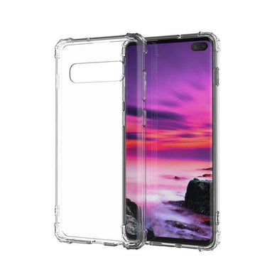 AMZER Pudding TPU X Protection Soft Skin Case for Samsung Galaxy S10 Plus - Clear - amzer