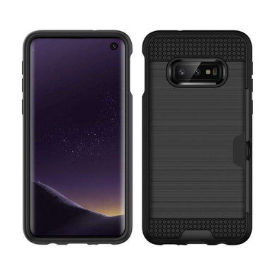 AMZER Brushed Texture Hybrid Case With Card Slot for Samsung Galaxy S10 Lite - Black