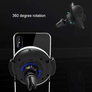 Adjustable Air Vent Bracket Phone Holder Fast Wireless Charging Car Mount