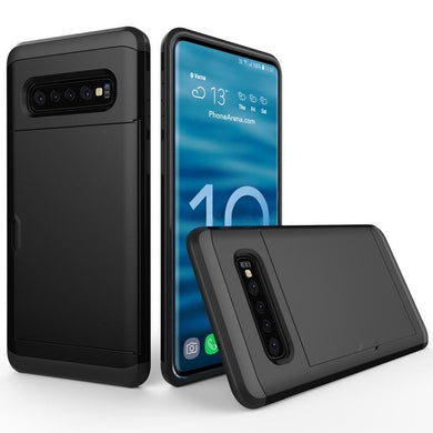 AMZER Shockproof Hybrid Case With Card Slot for Samsung Galaxy S10 Plus