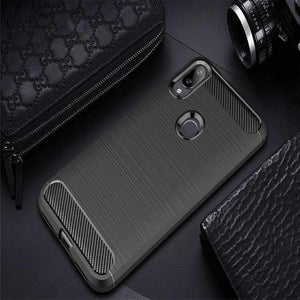 AMZER Rugged Armor Carbon Fiber Design ShockProof TPU for Xiaomi Mi Play - fommystore