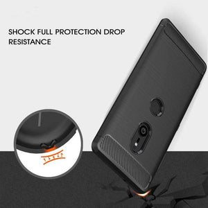 AMZER Rugged Armor Carbon Fiber Design ShockProof TPU for Sony Xperia XZ3 - fommystore