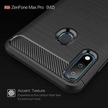 Load image into Gallery viewer, AMZER Rugged Armor Carbon Fiber Design ShockProof TPU for ASUS Zenfone Max Pro (M2) - fommystore