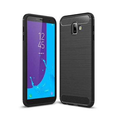 AMZER Rugged Armor Carbon Fiber Design ShockProof TPU for Samsung Galaxy J6 Plus, Samsung Galaxy J6 Prime