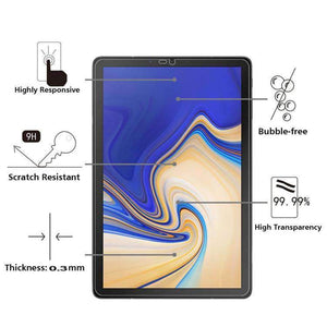 AMZER 9H Curved Full Screen Tempered Glass Film Screen Protector For Samsung Galaxy Tab S4 10.5 SM-T830/SM-T837/SM-T835 - Clear