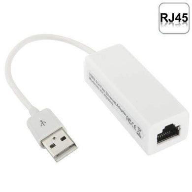 AMZER 20cm USB 2.0 Ethernet Adapter for Tablet PC/Android TV - White - fommystore