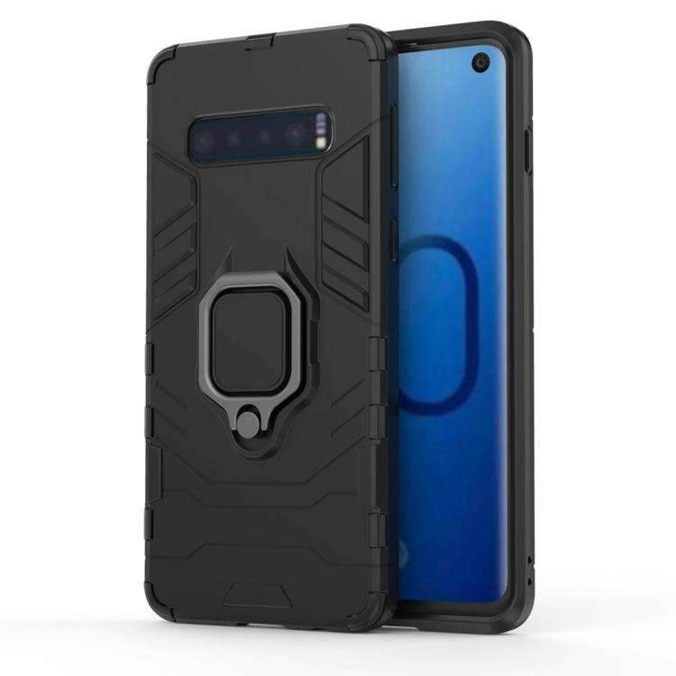 AMZER Hybrid PC+TPU Protective Case With Magnetic Ring Holder for Samsung Galaxy S10 - fommystore
