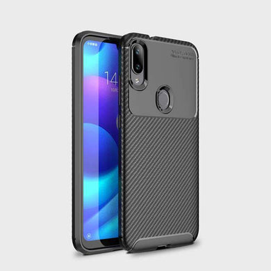 AMZER Hybrid Carbon Fiber Texture TPU Case for Xiaomi Mi Play - Black - fommystore