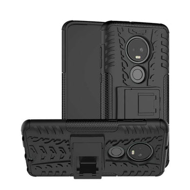 AMZER Hybrid Warrior Case for Motorola Moto G7 - Black/ Black - fommystore
