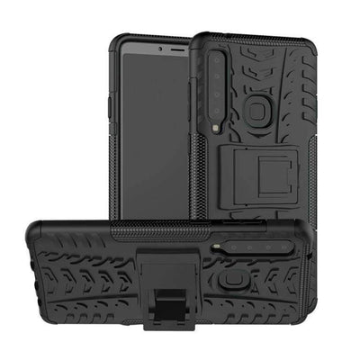 AMZER Hybrid Warrior Case for Samsung Galaxy A9 (2018) - Black/ Black - fommystore