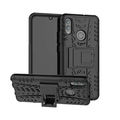 AMZER Hybrid Warrior Case for Huawei Honor 10 Lite / P Smart (2019) - Black/ Black - fommystore