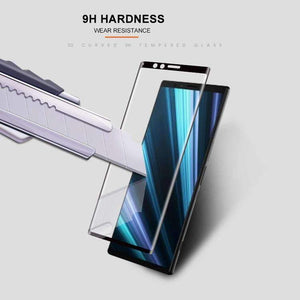 AMZER 9H 3D Curved Edge Tempered Glass Film for Sony Xperia 1 / Xperia XZ4 - Black - fommystore