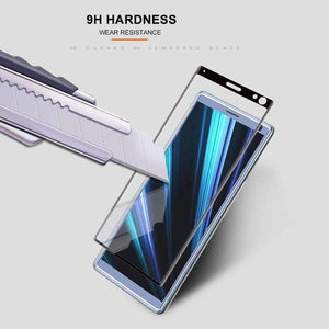 AMZER 9H 3D Curved Edge Tempered Glass Film for Sony Xperia 10 - Black - fommystore
