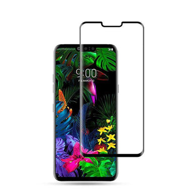 AMZER 9H 3D Curved Edge Tempered Glass Film for LG G8 ThinQ - Black - fommystore