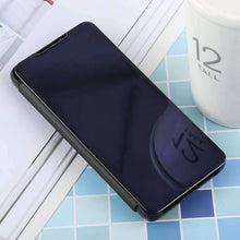 Load image into Gallery viewer, AMZER Mirror Horizontal Flip PU Leather Case With Holder for Samsung Galaxy S10 - fommystore