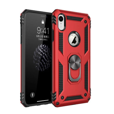 AMZER Sainik Case With 360° Magnetic Ring Holder for iPhone Xr
