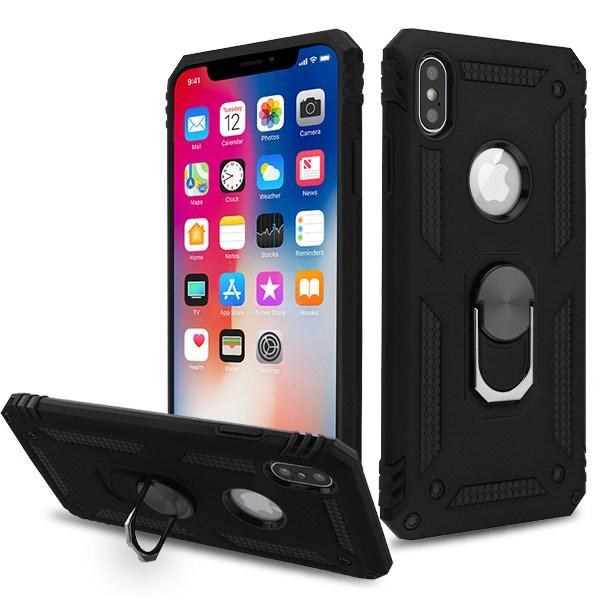 AMZER Sainik Case With 360° Magnetic Ring Holder for iPhone X / iphone Xs