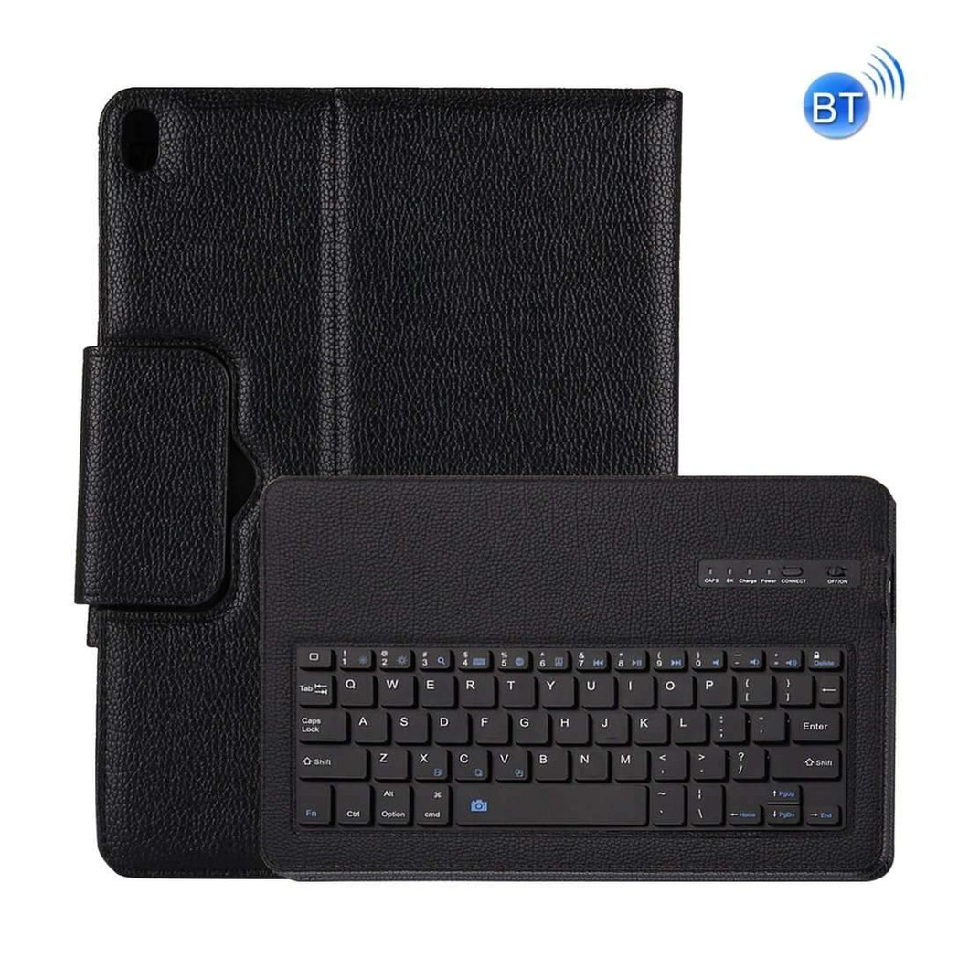 AMZER Horizontal Flip Leather Case With Detachable Bluetooth Keyboard & Holder For iPad Pro 10.5 inch - Black - fommystore