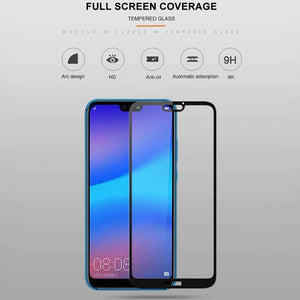 AMZER 9H 2.5D Tempered Glass Screen Protector for Huawei P20 Lite / Huawei Nova 3e - Black - fommystore