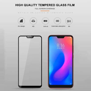 AMZER 9H 2.5D Tempered Glass Screen Protector for Xiaomi Redmi Note 6 - Black - fommystore