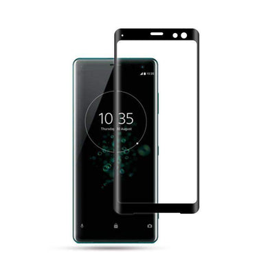AMZER 9H 3D Curved Edge Tempered Glass Screen Protector for Sony Xperia XZ3 - Black - fommystore