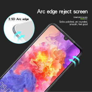 AMZER 9H 2.5D Tempered Glass Screen Protector for Huawei P30 Lite - Black - fommystore