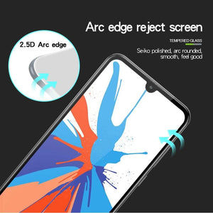 AMZER 9H 2.5D Tempered Glass Screen Protector for Huawei Y7 2019 - Black - fommystore