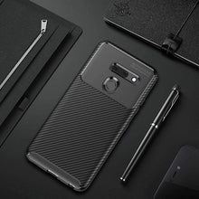 Load image into Gallery viewer, AMZER Hybrid Carbon Fiber Texture TPU Case for LG G8 ThinQ - Black - fommystore