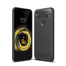Load image into Gallery viewer, AMZER Rugged Armor Carbon Fiber Design ShockProof TPU for LG V50 ThinQ 5G - Black - fommystore