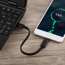 Load image into Gallery viewer, AMZER Portable USB to Micro USB Magnetic Hanging Charging Data Cable - Black - fommystore