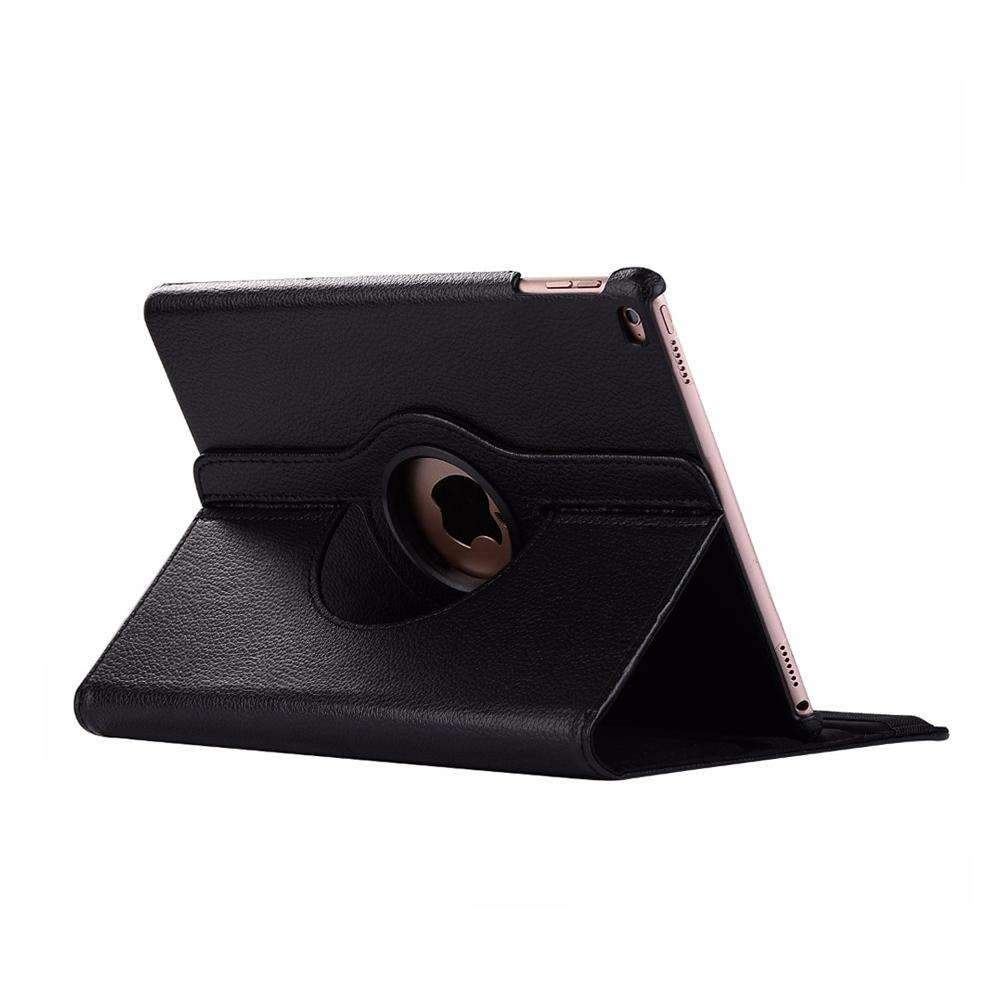 AMZER 360 Degrees Rotation Leather Case for iPad Mini 2019, With Holder & Sleep/Wake-up Function - Black - fommystore