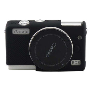 AMZER Soft Silicone Protective Case for Canon M100 - Black - fommystore
