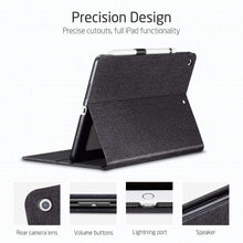 Load image into Gallery viewer, AMZER PU Leather Case for iPad Air 2019 10.5 inch With Holder & Sleep/Wake-up Function - Black - fommystore