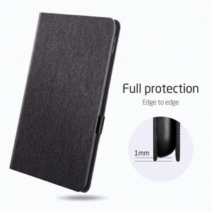 AMZER PU Leather Case for iPad Air 2019 10.5 inch With Holder & Sleep/Wake-up Function - Black - fommystore