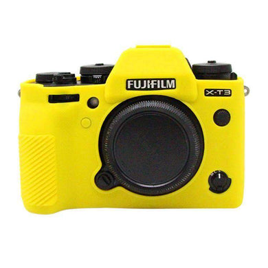 AMZER Soft Silicone Protective Case for FUJIFILM XT3 - Yellow - fommystore