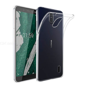 AMZER Ultra Slim Clear TPU Soft Protective Case for Nokia 1 Plus