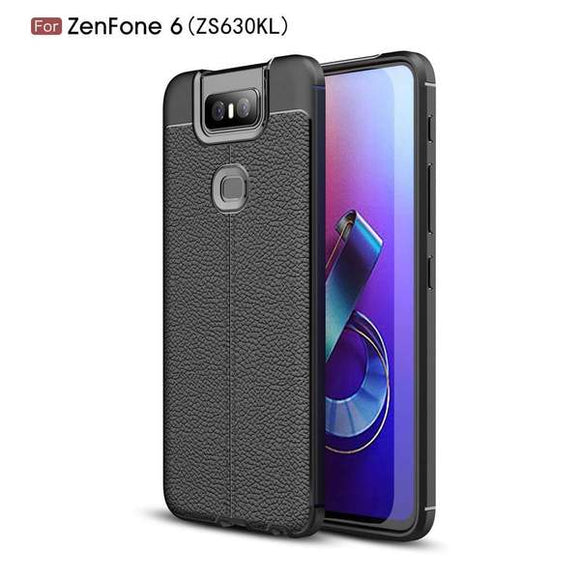 TPU Case With Texture for Asus Zenfone 6 ZS630KL - Black
