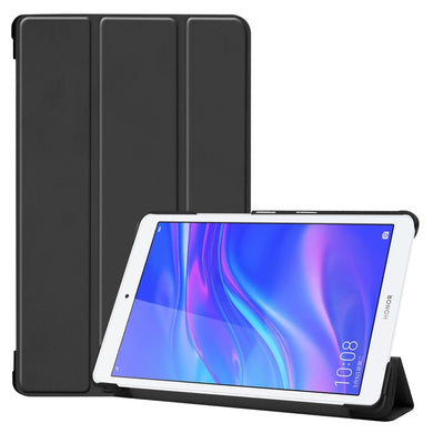 AMZER Texture Horizontal Flip Leather Case With 3-Fold Holder for Huawei MediaPad M5 lite 8.0 - Black