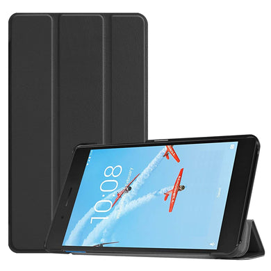 AMZER Texture Horizontal Flip Leather Case With 3-Fold Holder for Lenovo Tab E7/ TB-7104F - Black