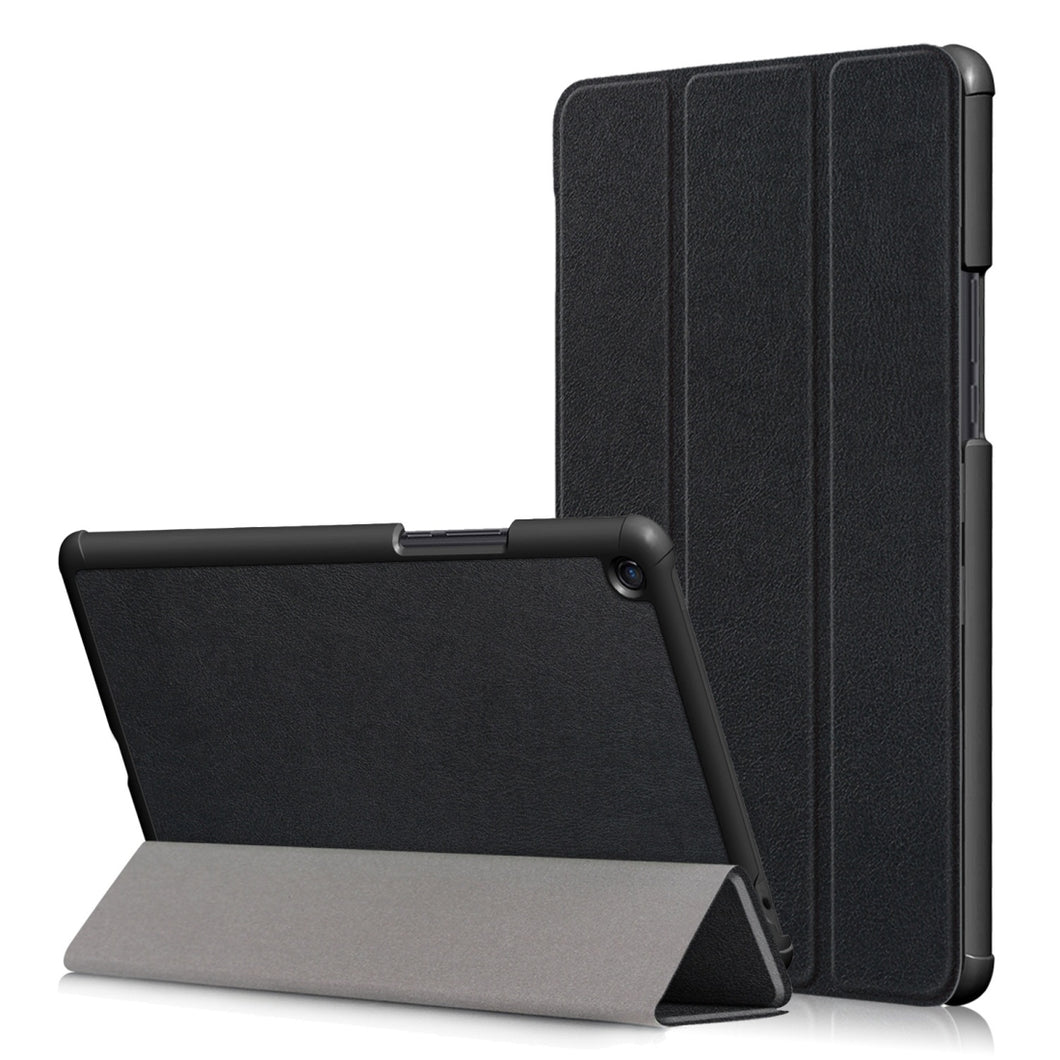 AMZER Texture Horizontal Flip Leather Case With 3-Fold Holder & Sleep/ Wake-up Function for Xiaomi Mi Pad 4 Plus 10.1 inch - Black