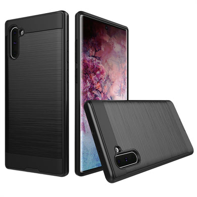 AMZER Rugged Shockproof TPU Case With Brushed Design for Samsung Galaxy Note 10 - Black