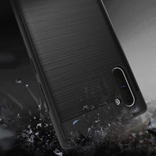 Load image into Gallery viewer, AMZER Rugged Shockproof TPU Case With Brushed Design for Samsung Galaxy Note 10 - Black