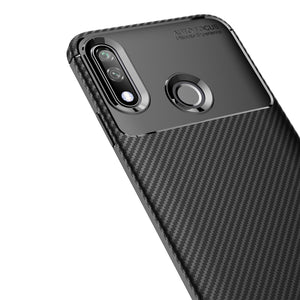 AMZER Rugged Armor Carbon Fiber Design ShockProof TPU for LG W10 - Black
