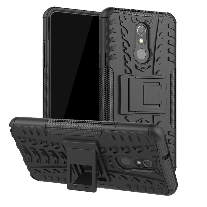 AMZER Warrior Hybrid Case for LG Q Stylo 5 - Black/ Black
