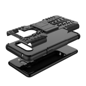 AMZER Warrior Hybrid Case for LG V50 ThinQ - Black/ Black