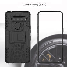 Load image into Gallery viewer, AMZER Warrior Hybrid Case for LG V50 ThinQ - Black/ Black