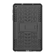 Load image into Gallery viewer, AMZER Warrior Hybrid Case for Samsung Galaxy Tab A 8.0 2019 SM-P200/ Samsung Galaxy Tab A 8.0 2019 SM-P205 -  Black/ Black